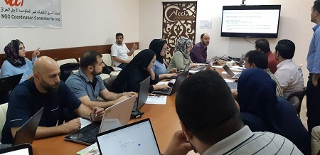Tammuz participates in the training workshop to update the organization's data on projects on UNHCR platform
